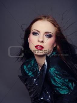 Beautiful fashion model with elegant make-up