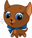Cute kitten vector illustration