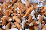 Many cigarette butts