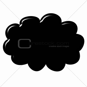 3D Black Cloud