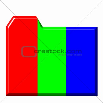 3d Colorful Folder