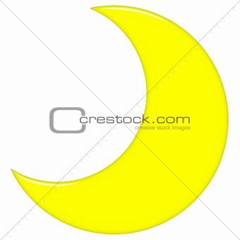 3D Crescent Moon