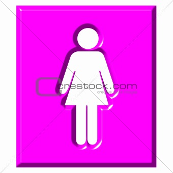 3D Female Sign