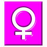 3D Female Symbol Sign