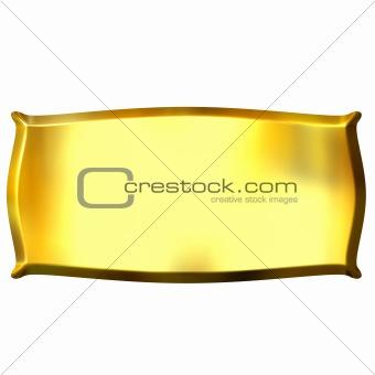 3D Golden Banner