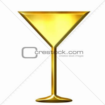 3D Golden Cocktail