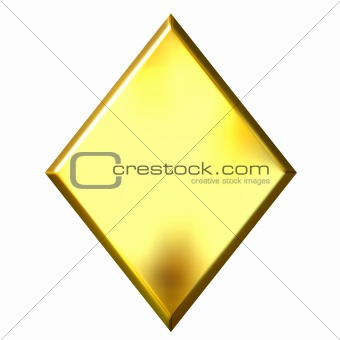 3D Golden Diamond