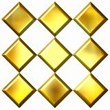 3D Golden Diamonds