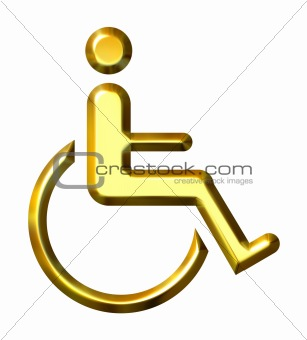 3D Golden Special Needs Symbol