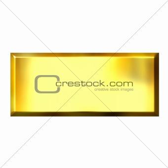 3D Golden Square Button