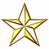 3D Golden Star