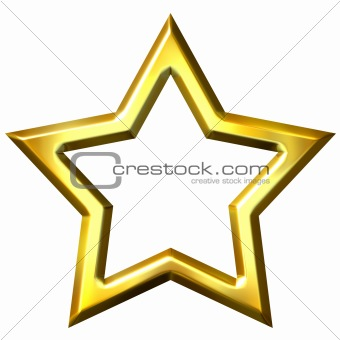 3D Golden Star Frame