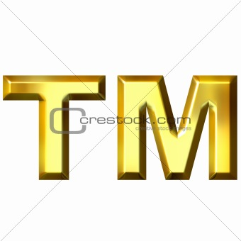 3D Golden Trademark Symbol