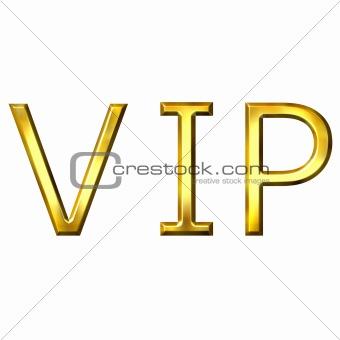3D Golden VIP