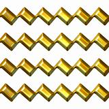 3D Golden Zig Zag Texture