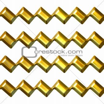 3D Golden Zig Zag Texture