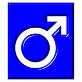 3D Male Symbol Sign