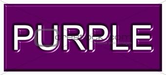 3d Purple Badge