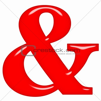 3D Red Ampersand