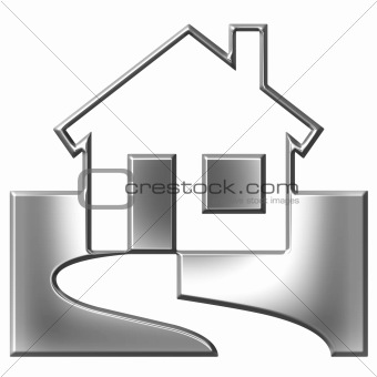 3D Silver House