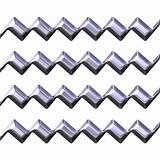 3d silver zig zag texture