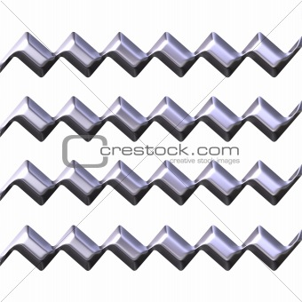 3d silver zig zag texture
