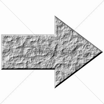 3D Stone Arrow