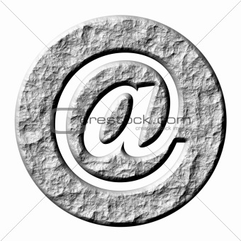 3D Stone Email Symbol