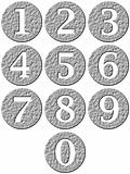 3D Stone Framed Numbers