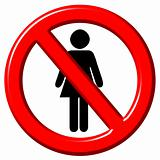 No women 3d sign