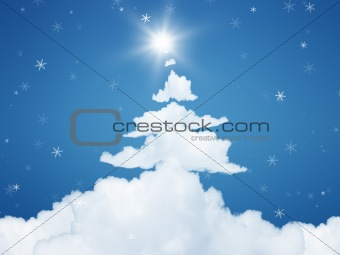 christmas cloud