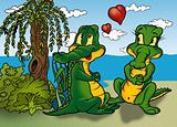 Two Crocodilie