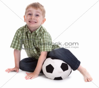 small boy with football 2