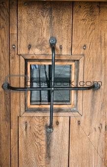 Old door with a window
