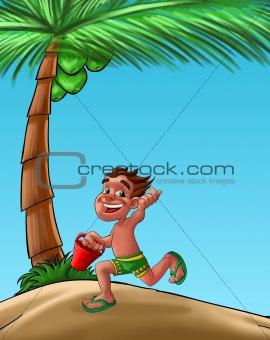 boy in the beach