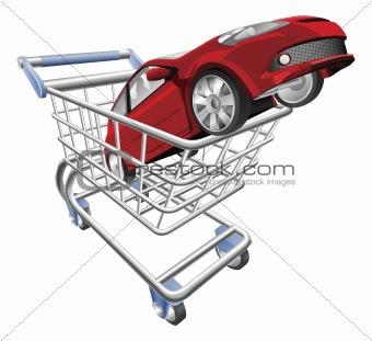 Car shopping cart concept