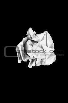 Crumple white paper