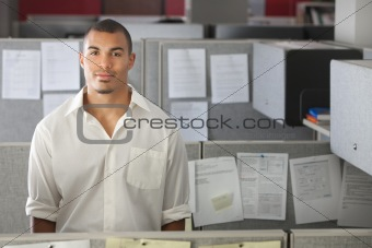 Portrait of man in the office