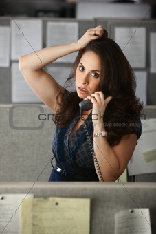 Busy Office Woman