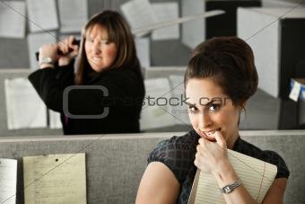 Woman Threatening Coworker
