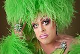 Serious Drag Queen in Green