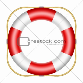 Red lifesaver buoy