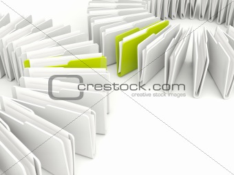 Folders isolated on white