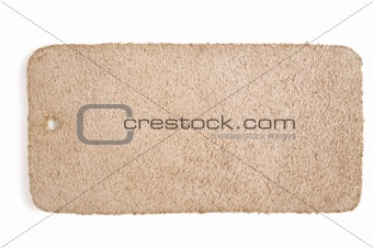 Blank leather tag