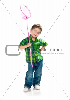boy with a butterfly net