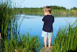 Boy near the river
