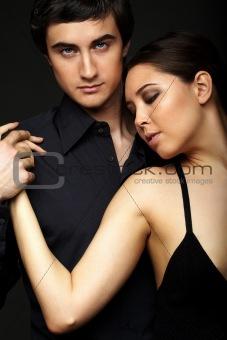 Couple in black