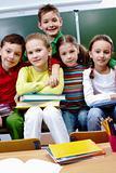 Classmates in school