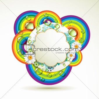 Floral background with drops