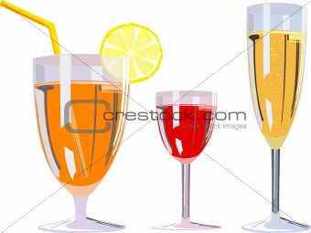 alcoholic glasses